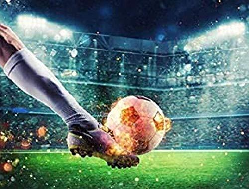WOMGD® Voetbal puzzel 1000 stukjes, houten puzzels, educatief spel Stress Reliever Moeilijk uitdagingsspeelgoed voor kinderen
