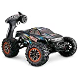 Hosim Large Size 1:10 Scale High Speed 46km/h 4WD 2.4Ghz Remote Control Truck 9125,Radio Controlled Off-Road RC Car Electronic Monster Truck R/C RTR Hobby Grade Cross-Country Car (Blue)