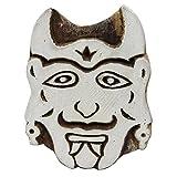 Indianbeautifulart Stampa del Tessuto di Progettazione del Fronte del Diavolo sull'arte di Legno scolpita Mano del Blocchetto/Timbro del Tessuto