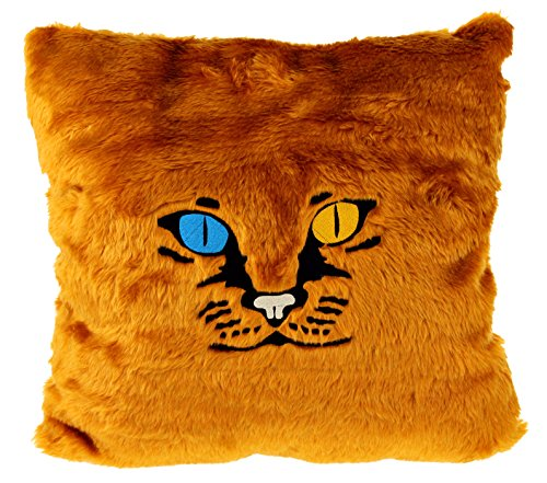 Gizzys/United Entertainment Cat Pillow, Foxy, Colore: Marrone