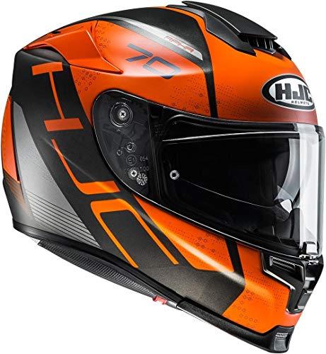 HJC Helmets Motorradhelm RPHA 70 Vias MC7SF, Schwarz/Orange, Größe M, 2432_25638