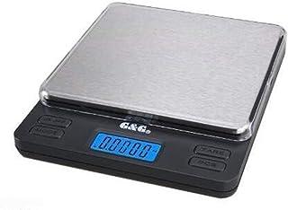 MKJYDM Báscula de Equipaje Báscula Digital Báscula de precisión Báscula de Oro Báscula de Cocina Báscula de Moneda 10 cm x 10 cm Gran Superficie de pesaje Escala electrónica