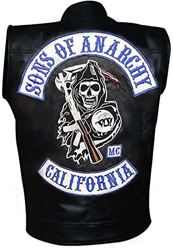 Sons of Anarchy Highway - Chaleco de piel sintética con capucha y chaleco Jax Teller Charlie Hunnam