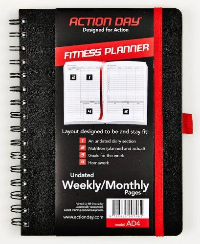 Da de Accin FitnessPlanificador sin fecha semanal/Monthly pginasAlimentacin & Fitness diario(Workout (+) NutricinAgenda (+) Ejercicio ()