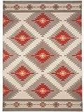 benuta Alfombra Star Kilim para Interior y Exterior, 140 x 200 cm, fácil de Limpiar, Adecuada para Interior y Exterior, balcón y terraza