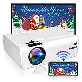 Proyector WiFi, WiMiUS 5800 Proyector WiFi Portátil Full HD Soporta 1080P Audio AC3 Mini Proyector 720P Nativo 80000...