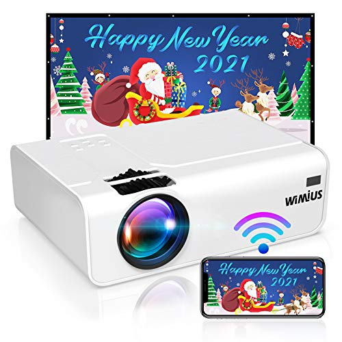 Proyector WiFi, WiMiUS 5800 Proyector WiFi Portátil Full HD...