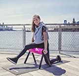HighRoller Efficient Ergonomic Foam Roller, Rolling Muscle and Fascia Care with Patented Elevation Pink