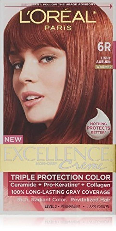 放映規範エレベーターL'Oreal Paris Excellence Creme Triple Protection Hair Color, Light Auburn (Warmer) [6R] 1 ea by L'Oreal Paris