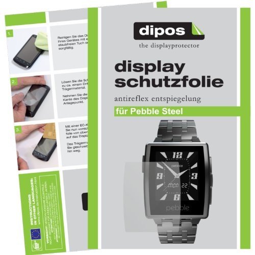 dipos I 2X Schutzfolie matt kompatibel mit Pebble Steel Folie Bildschirmschutzfolie