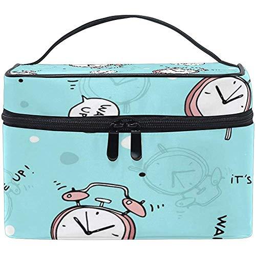 Multifuncation Wake Up My Beauty Cosmetic Bag Makeup Toiletry Kit Kit Case Zipper Portable Waterproof