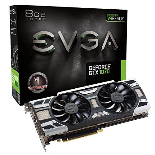 EVGA GeForce GTX 1070 SC Gaming ACX 3.0 Grafikkarte 08G-P4-6173-KR Real Boost Clock: 1683 MHz