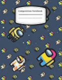 Composition Notebook: Among Us Crewmate Imposter Adorable Nifty Composition Notebook: Wide Ruled Blank Lined Quad Ruled 5x5 120 Pages 7.5x9.25 for ... Writing Journal for Homework Best Gift for