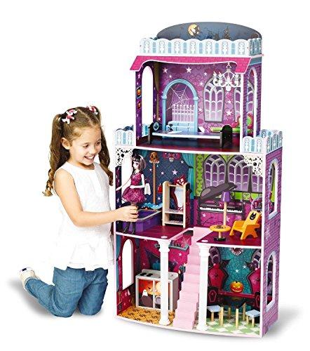 Maison de poupée 'Spooky' - Maison hantée - de grande taille - Convenable pour poupées Monster High et Barbie - Dim.: env. 118 x 62 x 28 cm