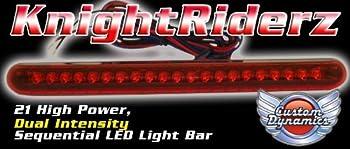 Custom Dynamics Knight Riderz Sequential 21 LED Light Bar with Flashing Brake Alert