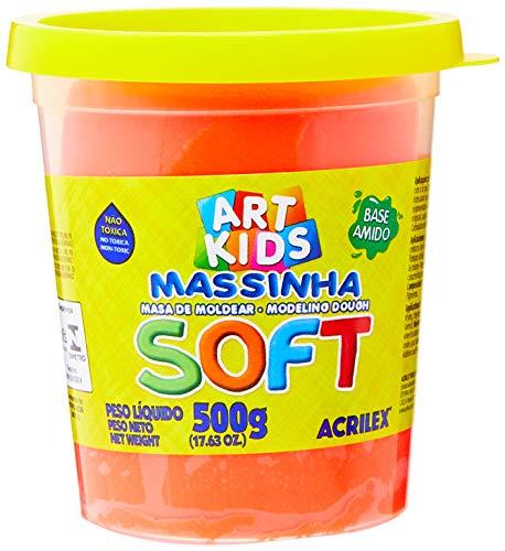 Massa de Modelar Soft Acrilex Vermelho 500g