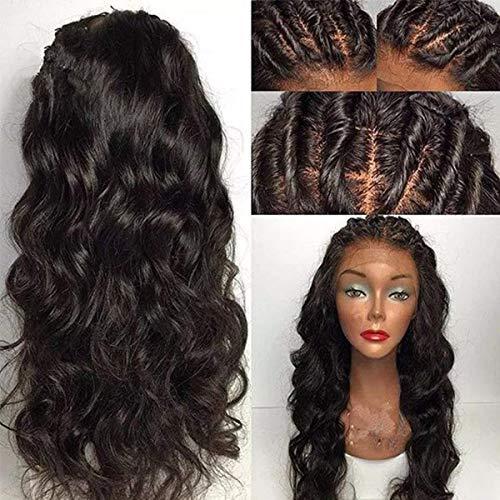 Maycaur Black Body Wave 180 Density Hair Wigs Perruque de cheveux longs et ondulés