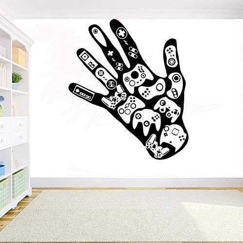 AGjDF Gamer's Wandaufkleber Game Controller Videospiel Wandaufkleber Kinderzimmer Pfütze Vinyl Art Mural56x42cm