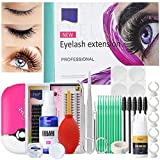 False Eyelashes Extension Practice Exercise Set for Professionals, EBANKU Training MakeUp False Eyelashes Extension Tool Practice Kit for Eye Lashes Graft Makeup Practice