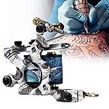 Herramienta de tatuaje profesional, Máquina de tatuaje de bobinas de cobre de 10 abrigos, Ametralladora de aleación, Pistola de delineador de máquina de tatuaje de Shader, Herramienta de maquillaje