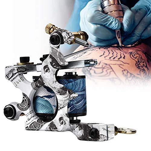 Tattoo gun 10 bobinas de urdimbre máquina de tatuaje, maquinas de tatuar, Pistola de delineador de máquina de tatuaje de Shader, máquina de tatuaje artesanal conectado para tatuadores