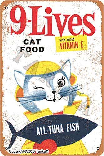 9-Lives Cat Food All Tonno Fish Retrò Look 20 x 30 cm...