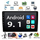 "Android 9.1 Double Din 10.1"" Car Radio, 2.5D HD Touch Screen Car Stereo"