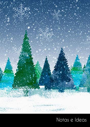 Notas e Ideas: Cuaderno / libro de dibujo grande navidad invierno abeto...