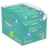 Pampers Fresh Clean Baby Feuchttücher, 624 Tücher (12 x 52) Mit Frischem Duft, Dermatologisch Getestet, Baby Erstausstattung Für Neugeborene