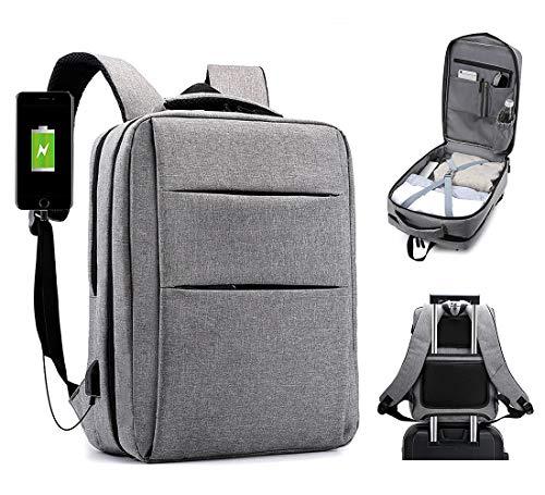 Travel Laptop Backpack,Business Backpacks with USB Charging Port,Water Resistant College School Bookbag,Flight Approved Carry-On Luggage Weekender Bag Daypack for Men