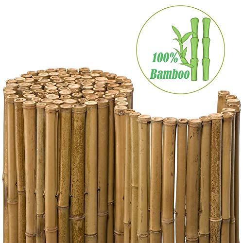 Pare-Vue Pour Balcon Clôture En Bambou 100% Naturel Branches De Bambou De 1,4 À 2,4 Cm D'épaisseur Attaché Avec Du Fil Offre Une Vision, Une Protection Contre Les UV Et Le Vent La Protection De La Vie