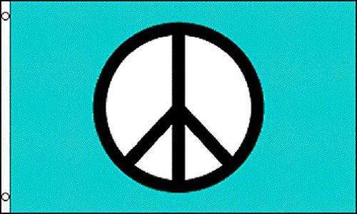 AZ FLAG Bandera SÍMBOLO DE LA Paz Azul 150x90cm - Bandera Peace 90 x 150 cm
