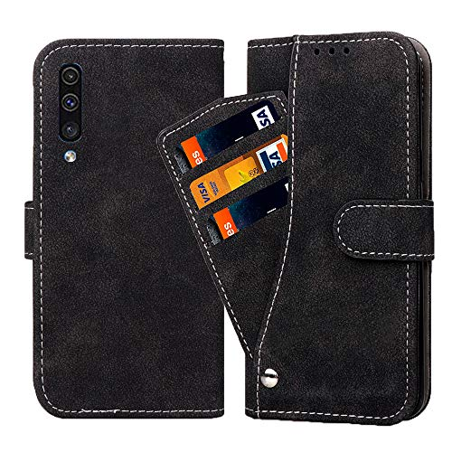 Asuwish Samsung Galaxy A50/A50S/A30S Wallet Case,Leather Phone Cases with Credit Card Holder Slot Stand Kickstand Shockproof Rugged Flip Folio Protective Cover for Glaxay A 50 S50 50A Men Girls Black