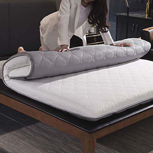 WJH Colchones viscoelásticos de Espesar, Colchón de futón Tatami japonés, Doble Cara Disponible Respirable Antibacteriano Anti-ácaros Sleeping Pad-Gris 120x200cm(47x79inch)