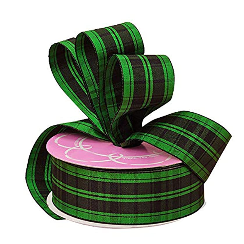 Green Plaid St. Patrick's Day Wired Ribbon - 1 1/2