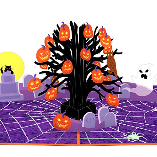Lovepop Spooky Tree Pop Up Card - 3D Cards, Halloween Cards, Pop Up Halloween Cards, 3D Halloween Pop Up Greeting Card, Spooky Halloween Card, Halloween Greeting Cards