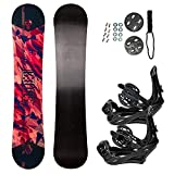 STAUBER 148cm Summit Snowboard & Binding Package Sizes 128, 133, 138, 143,...
