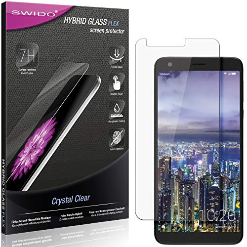 SWIDO Panzerglas Schutzfolie kompatibel mit Sharp Aquos B10 Bildschirmschutz-Folie & Glas = biegsames HYBRIDGLAS, splitterfrei, Anti-Fingerprint KLAR - HD-Clear