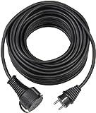 Brennenstuhl 1169870 Bremaxx, Cable alargador de Corriente, Uso Corto en Exteriores hasta-35°C, Resistente al Aceite, negro, 10m