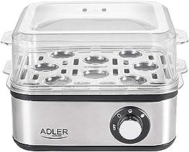 Adler Elektrische eierkoker, 1-8 eieren, 500 watt, roestvrijstalen verwarmingsplaat, automatische uitschakeling, controlel...