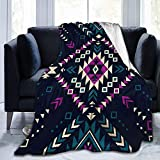 Patrón Transparente Vector Navajo Tribal Color Oscuro con Manta Dormitorio Franela