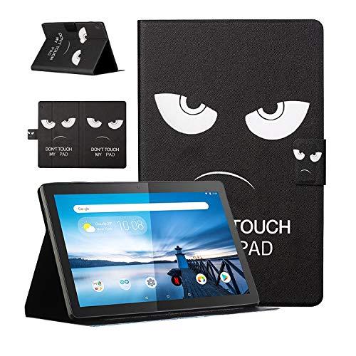 Niedliche Hülle für Lenovo Tab M10 10,1-Zoll-HD-Tablet Folio Slim Leichter Schutz Abdeckung rutschfester Ständer mit Kartenhalter Lenovo Smart Tab M10 X605F / TB-X505F(Berühren Sie nicht mein Pad)
