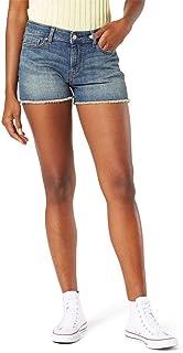 Women's Mid-Rise Cut Off Shorts