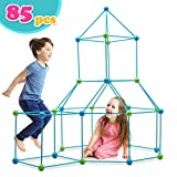 make your own tent - Obuby Kids Crazy Construction Fort Building Kit 85 Pieces Ultimate Forts Builder Gift Build Making Kits Toys for Boys and Girls to DIY Building Castles Tunnels Play Tent Rocket Tower Indoor & Outdoor