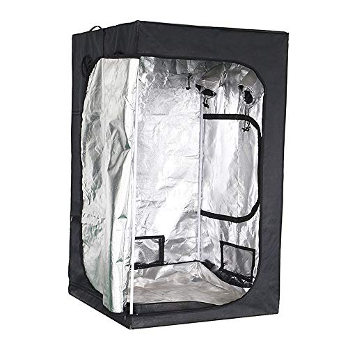 600D Grow Tent, Grow Box , Reflective Mylar Indoor Hydroponic Grow Tent , Greenhouse Grow Tent with Observation Window & Removable Waterproof Floor Tray for Indoor Plant Growing, 120*120*200CM
