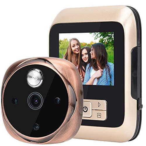 Hakeeta Video deurbel met 3 inch display, 170 graden kijkhoek, nachtzichtfunctie. Cat Eye Monitor deurintercom met 25 songs deurbel muziek
