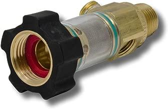 General Pump 100651 DuraView Inlet Filter Integrated Garden Hose Nut, 8.0 GPM, 150 Maximum psi