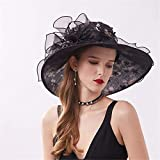 MGE Sombreros de Sun, Mujeres Ajustable Plegable 13cm Flor d