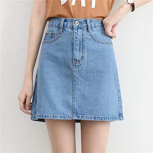 Rok Fashion Koreaanse Lente Zomer Rok van de Vrouwen High Waist Mini Rokken Jeans Plus Size Katoen Meisjes Zwarte Rok QWERTB
