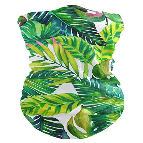 MAHU Headband Tropical Palm Leaves Hawaii Face UV Sun Protection Mask Neck Gaiter Magic Scarf Bandana Headwear Balaclava for Women Men